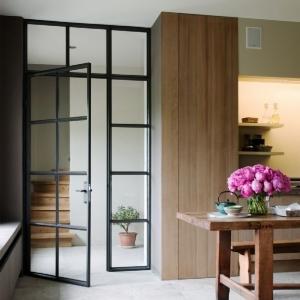 Glazen deur woonkamer