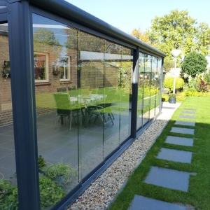 Glazen wand veranda